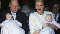 Prince Albert And Princess Charlene Baptize Their Twins in