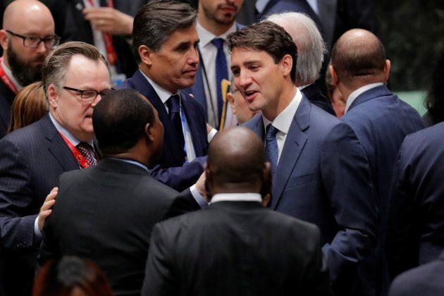 Prime Minsiter Justin Trudeau attends the High Level Nelson Mandela Peace Summit during the 73rd United...