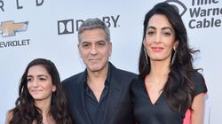 Amal Clooney's Colour-Blocking Game Goes On