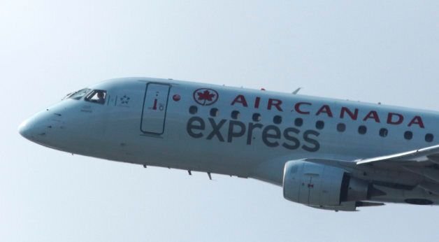 An Air Canada airplane takes off from Newark Liberty Airport on Sept. 30,