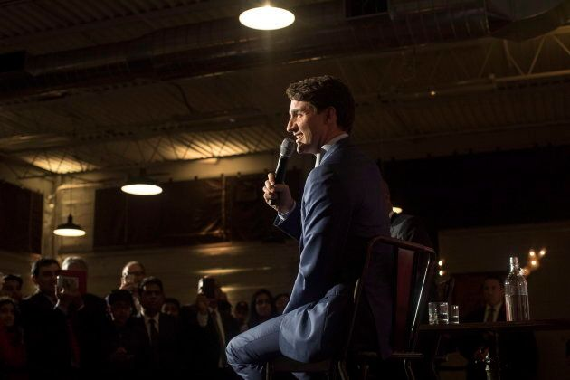 Prime Minister Justin Trudeau attends a Liberal Party Fundraiser in Toronto, on Oct. 2,