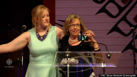 Elizabeth May's Press Gallery Dinner Speech Was The 'Weird Moment Of The