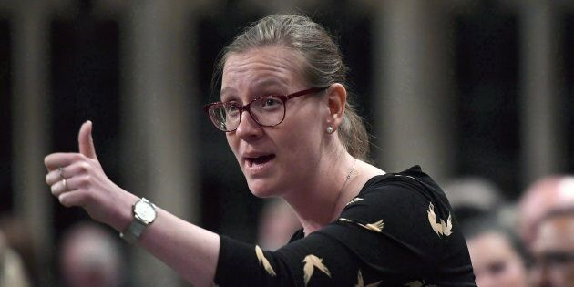 Minister of Democratic Institutions Karina Gould rises during question period in the House of Commons...
