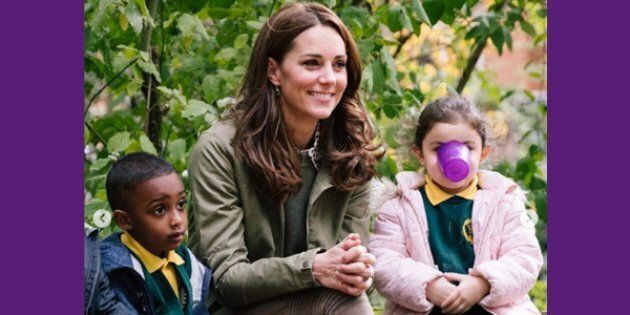 'Cup Kid' Steals The Show At Duchess Of Cambridge's Return From Mat