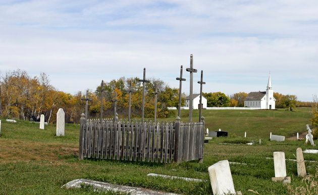 Metis graves are marked in Batoche, Sask., the site of a major battle of the Northwest Rebellion about...
