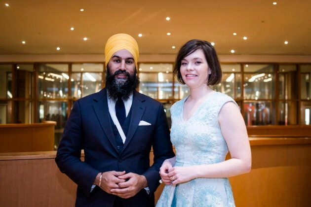 Federal NDP Leader Jagmeet Singh and Chief of Staff, Willy Blomme pose for a portrait before the Broadbent...