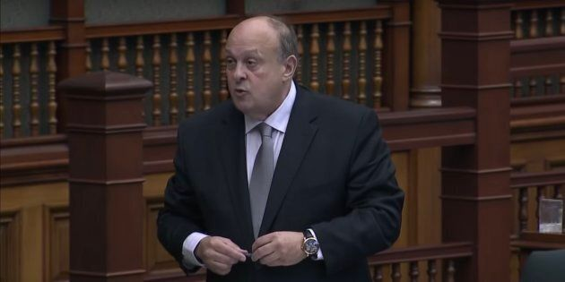 Minister Michael Tibollo speaks during question period at the Ontario legislature in Toronto on Oct. 4, 2018.
