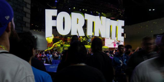 The Fortnite booth is shown at E3, the world's largest video game industry convention in Los Angeles...