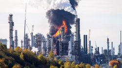 Minor Injuries Reported After Massive Oil Refinery Explosion In Saint