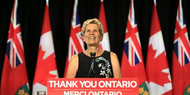 Former Ontario premier Kathleen Wynne addresses the election loss that left the Liberals with only 7...