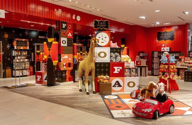 An FAO Schwarz pop-up store is shown in a handout