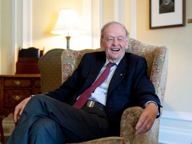 Former prime minister Jean Chretien in Ottawa on Oct. 5,