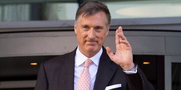 Maxime Bernier leaves the building after filing the papers for the Peoples Party of Canada at the Elections...
