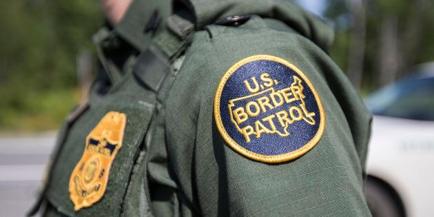 A patch on the uniform of a U.S. Border Patrol agent at a highway checkpoint on Aug. 1, 2018 in West...