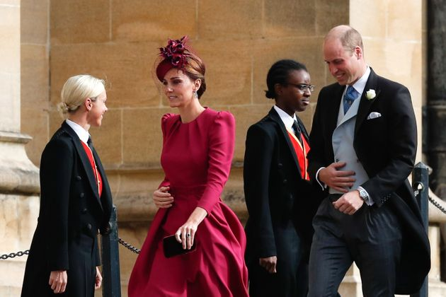 Kate won rave reviews for her rose-coloured