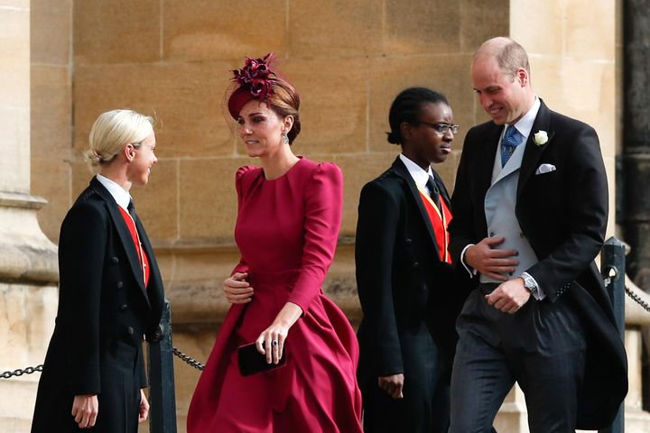 Kate won rave reviews for her rose-coloured ensemble.
