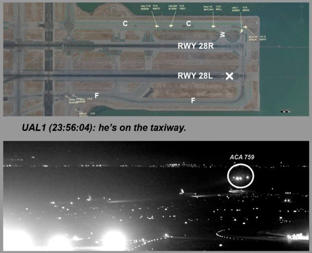 This composite of file images released by the National Transportation Safety Board (NTSB) shows Air Canada...