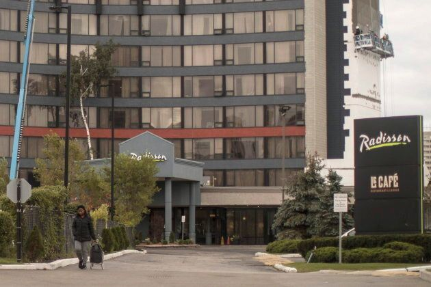The Radisson Hotel where asylum seekers are being