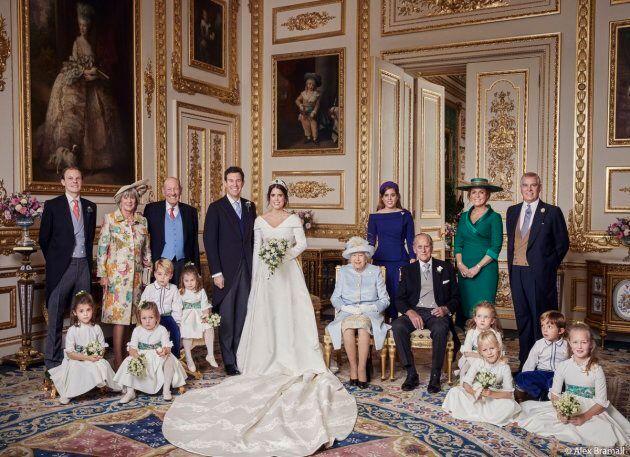 Prince George, Princess Charlotte, Queen Elizabeth, Prince Phillip, Maud Windsor, Louis De Givenchy,...