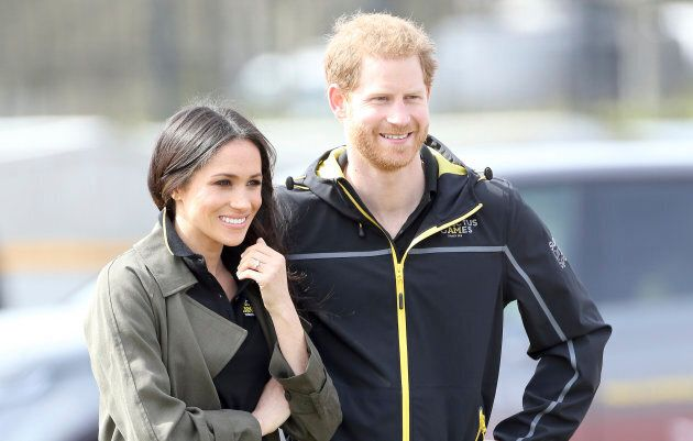 Prince Harry and Meghan Markle at the UK team trials for the Invictus Games Sydney 2018, at the University...