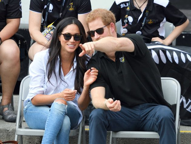 Meghan Markle and Prince Harry made their first official public appearance together at the 2017 Invictus...