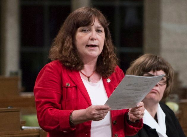 NDP MP Marjolaine Boutin-Sweet rises in the House of Commons in Ottawa on June 3,