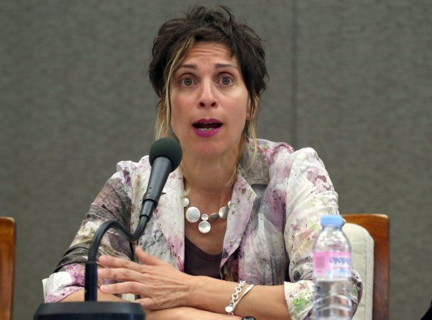 Leilani Farha holds a press conference in Seoul, South Korea on May 23,