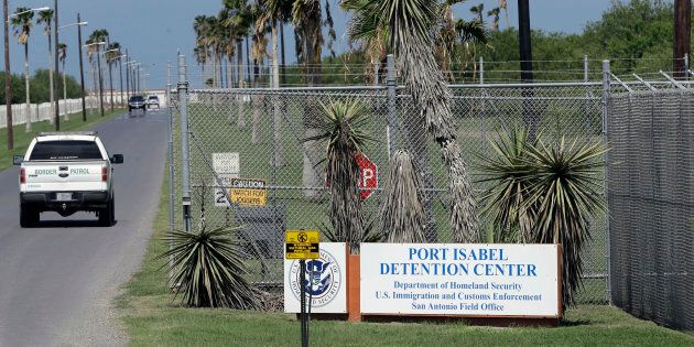 In this June 26, 2018, file photo, a U.S. Border Patrol truck enters the Port Isabel Detention Center,...