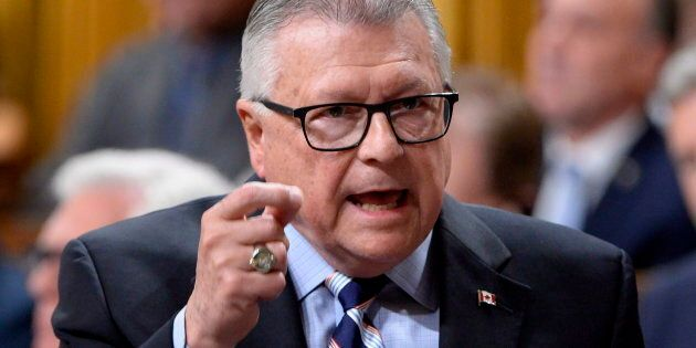Ralph Goodale in the House of Commons on Parliament Hill in Ottawa on Oct. 2,