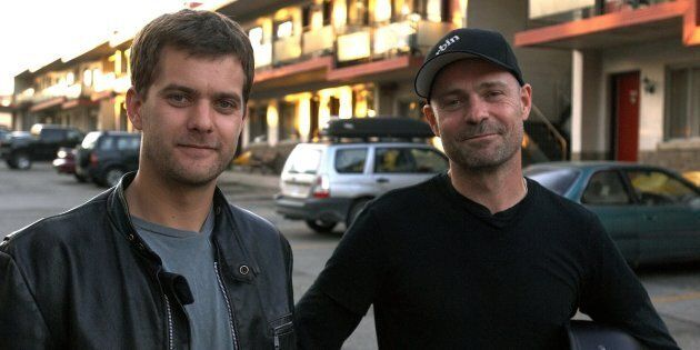 Joshua Jackson, left, and Gord Downie, right, starred in the 2008