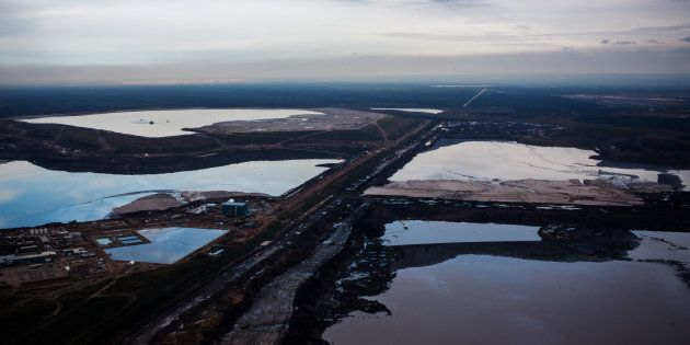 The Syncrude Canada Ltd. Aurora North mine is seen in this aerial photograph taken above the Athabasca oil sands near Fort McMurray, Alberta, Canada.