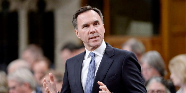 Finance Minister Bill Morneau speaks during question period in the House of Commons on Oct. 16,
