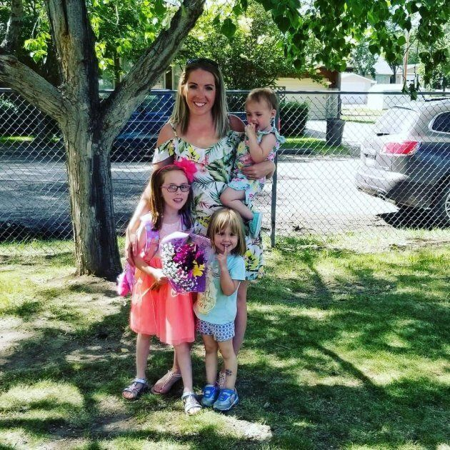 Reiber, shown with her three children, wishes there were better options for women hospitalized for postpartum