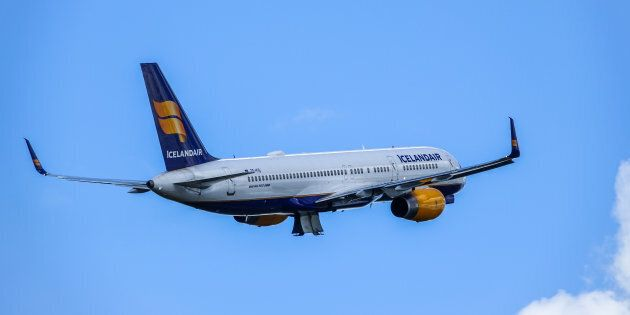 An Icelandair, Boeing 757 - 200 takes off at Stockholm Arlanda