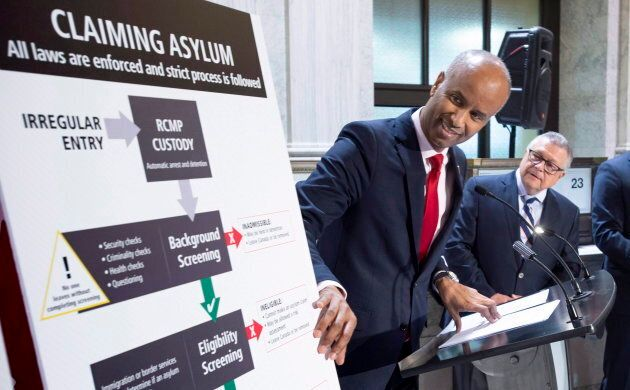 Immigration Minister Ahmed Hussen discusses the situation of irregular migration as Public Safety Minister...