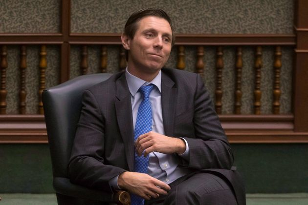 Former Ontario PC Leader Patrick Brown sits in his chair as an Independent MPP at the Queens Park Legislature...