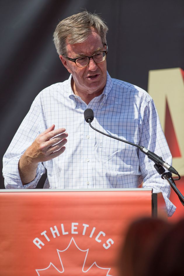 Ottawa Mayor Jim Watson speaks at a press conference launching the 2018 Athletics Canada National Track...