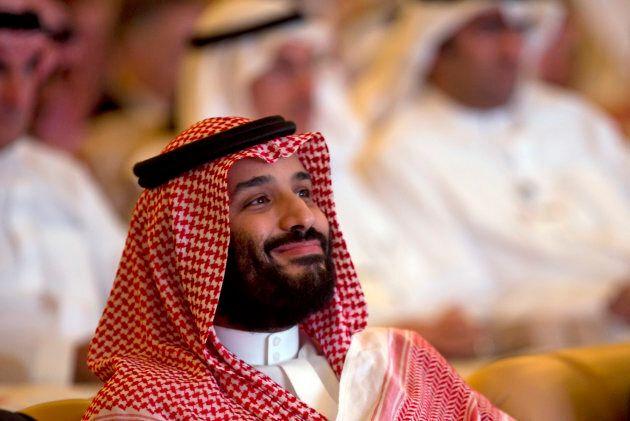 Saudi Crown Prince, Mohammed bin Salman, at the Future Investment Initiative conference, in Riyadh, Saudi...