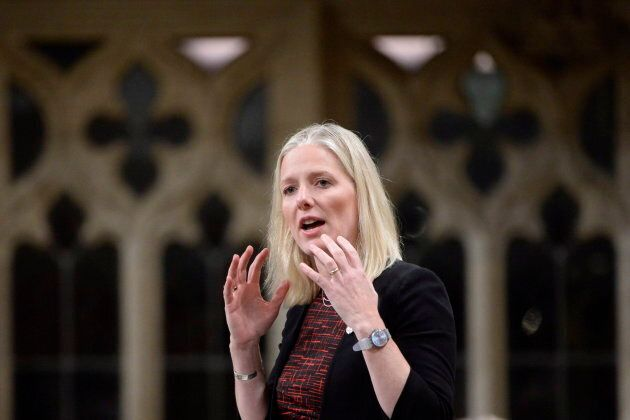 Environment Minister Catherine McKenna speaks in the House of Commons on Parliament Hill on Oct. 19,