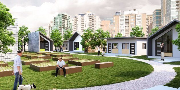 An artist rendering of the community set to open in Calgary next