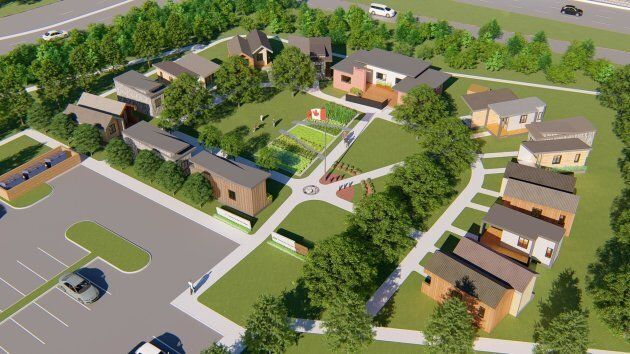 A visualization of what the completed Homes for Heroes project will look like.