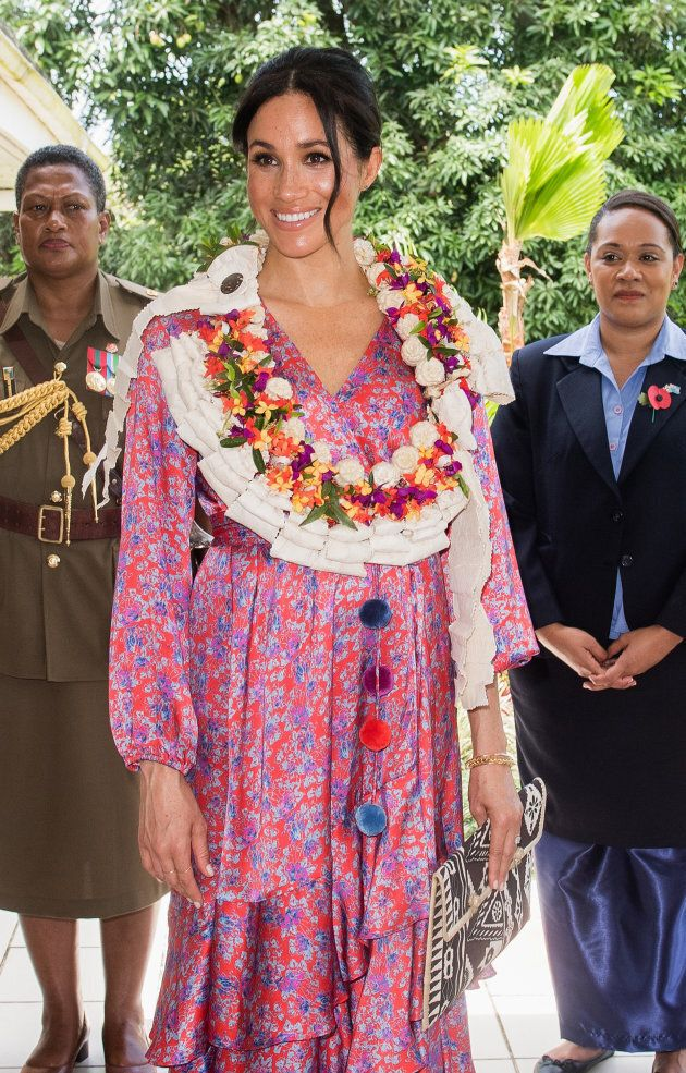 The duchess was glowing at the morning tea reception.