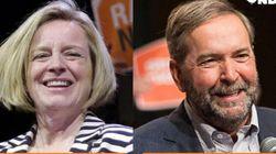 Mulcair Blurs Line After Alberta NDP