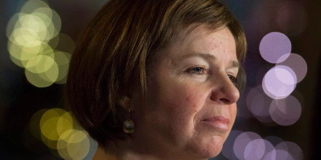 NDP MP Sheila Malcolmson speaks with the media about her private members bill regarding abandoned vessels,...