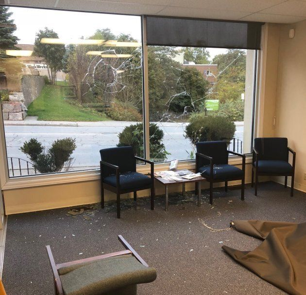 Ontario MPP Laurie Scott's office was broken into in the early hours of Wednesday