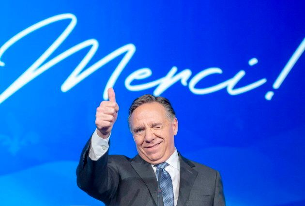 CAQ leader Francois Legault on Oct. 1,
