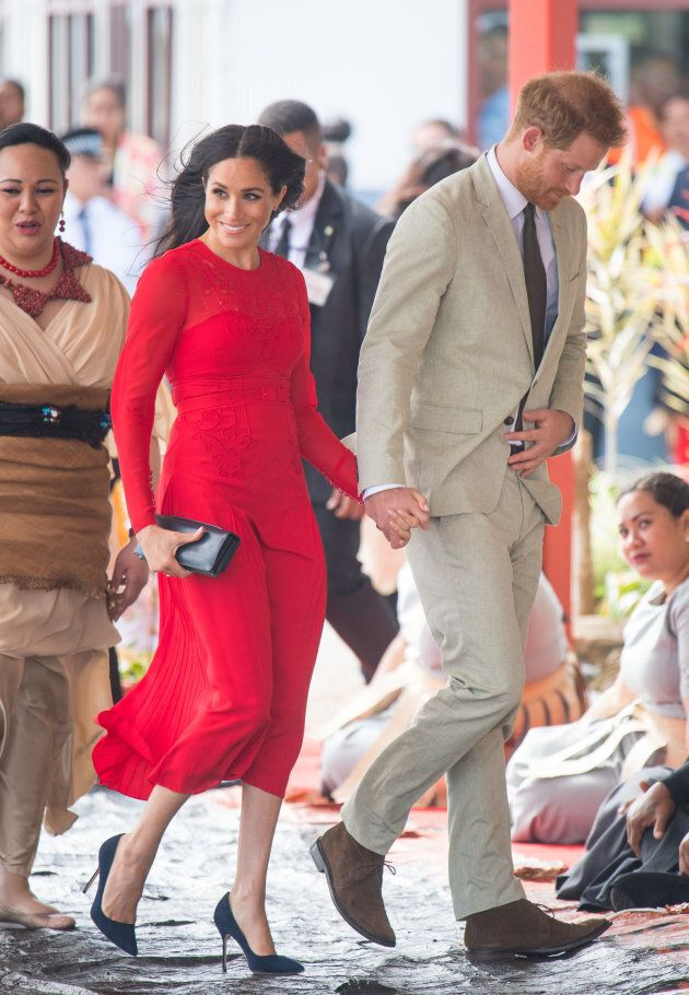 The duke and duchess arrive in Tonga.