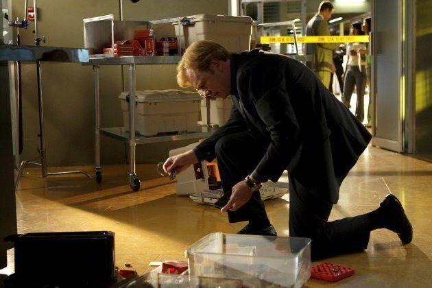 A scene from CSI: