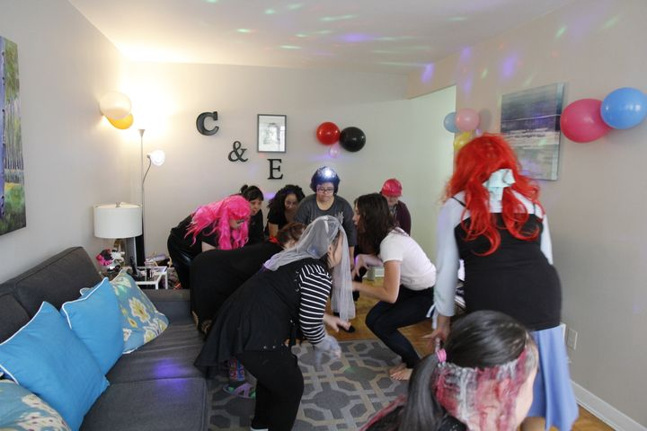 Enrica and her friends get their dance on at her 30th birthday celebrations in her downtown Toronto apartment.