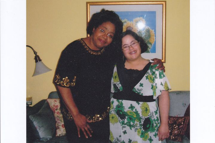 Enrica in her 20s with her mother Judith in the living room of the family home she grew up in.
